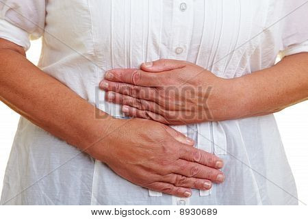 Hands On Aching Belly