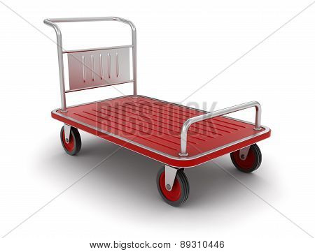 Handtruck (clipping path included)