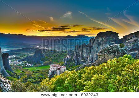 Monasteries On The Rocks, Meteora, Greece