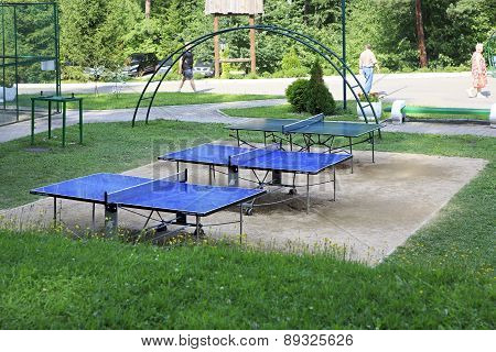 Table tennis in the Sanatorium Russia