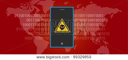 internet data virus malware mobile phone