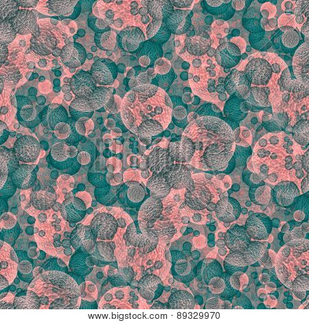Abstract pink turquoise digitally rendered pattern