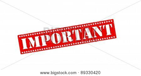 Rubber stamp with word important inside vector illustration poster
