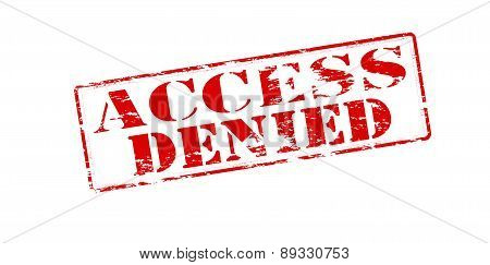 Rubber stamp with text access denied inside vector illustration poster