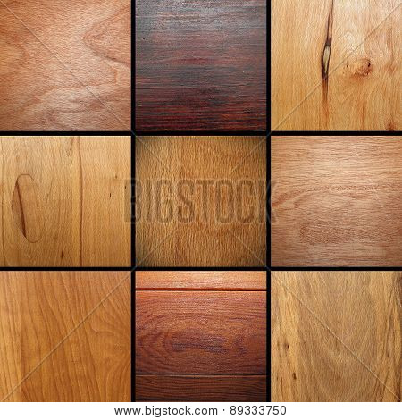 Real Wood Veneer Collage