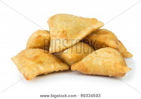Midle Asian Pies With Meat (samsa) On Plate