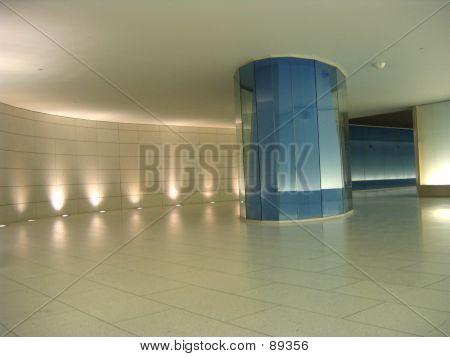 Blue Glass Column