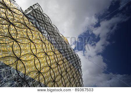 BIRMINGHAM, UNITED KINGDOM - April 29, 2015.- The Library of Birmingham, MECANOO ARCHITECTEN, Centenary Square, Birmingham, England, UK, Western Europe,
