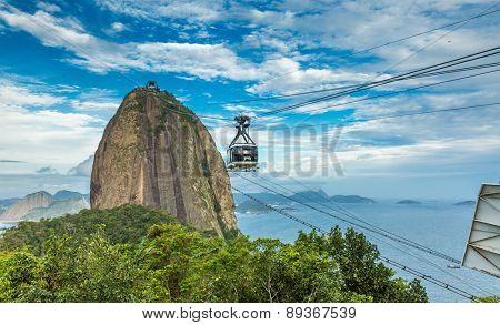 RIO DE JANEIRO, BRAZIL - CIRCA NOVEMBER 2014: The Sugarloaf Mountain in Rio de Janeiro, Brazil