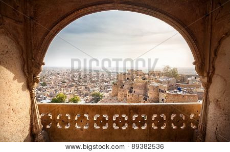 Jaisalmer Fort And City View