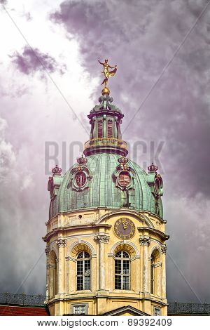 The Top Of The Schloss Charlottenburg Berlin In Stormy Weather