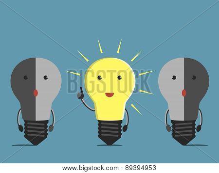 Light Bulb Characters