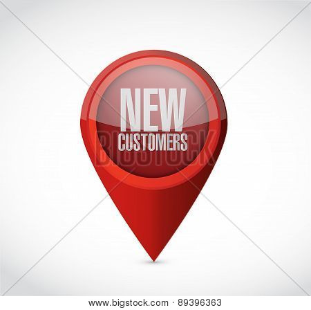 New Customers Pointer Sign Concept