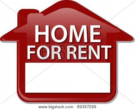 Illustration concept clipart for rent sign house renting vector poster