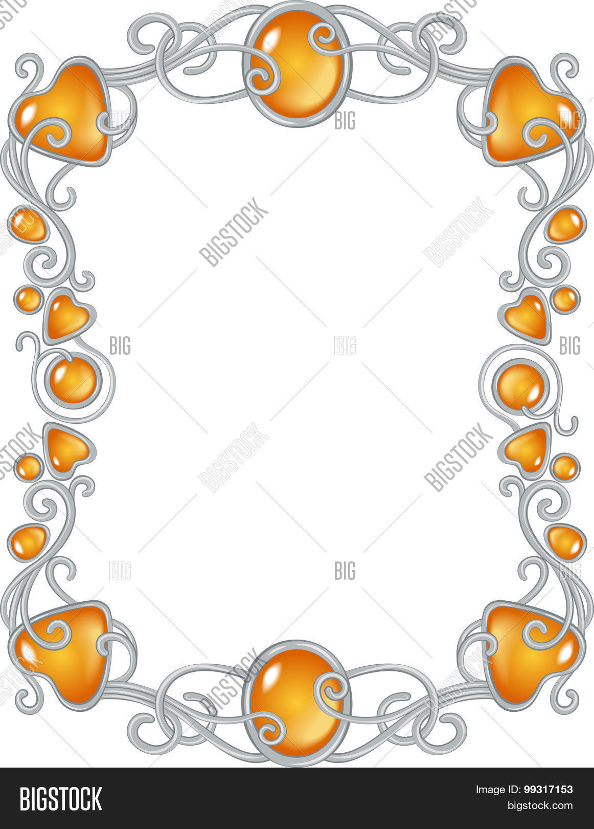 Jewel Frame Vector & Photo (Free Trial) | Bigstock