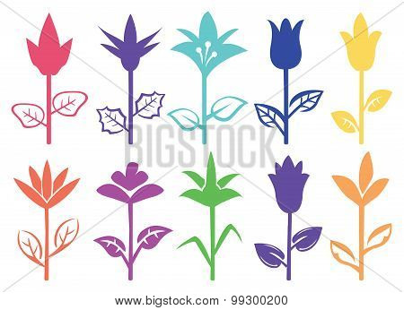 Flower Silhouette Design Vector Illustration