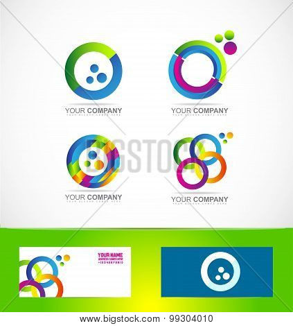 Colors Circle Logo Icon Set