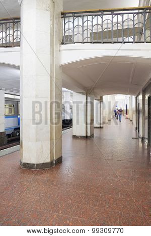 Interior of a metro station