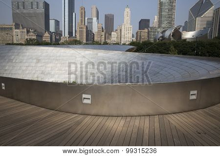 BP walkway in Chicago