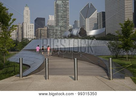 BP bridge in Millennium Park Chicago