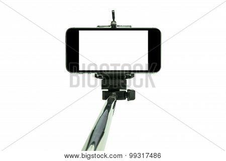 Smartphone On A Selfie Stick Shot In Studio 1
