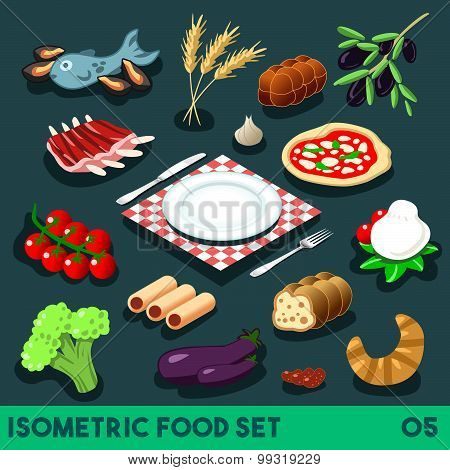Diet Set 05 Food Isometric