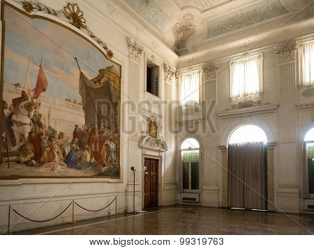 Hall Of Honour With The Fresco