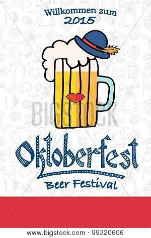 Vector Illustration Of Hipster Oktoberfest Logotype