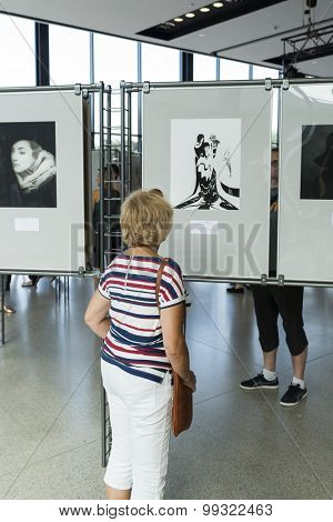 WROCLAW, POLAND - JULY 19: An exhibition of photographs Milton. H. Green's