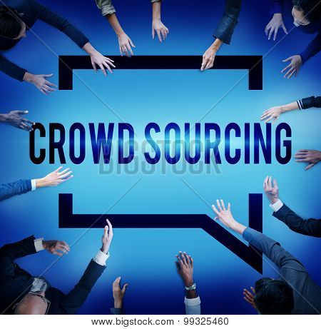 Crowd Sourcing Collaboration Group Online Community Concept