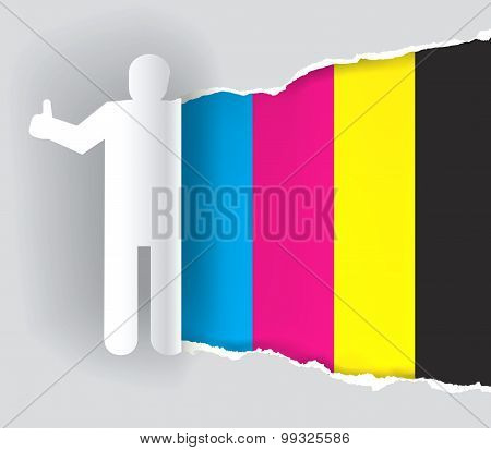 Color printing promotion background