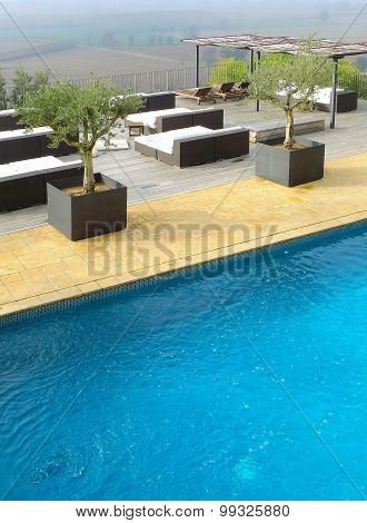 Outdoor pool in hotel