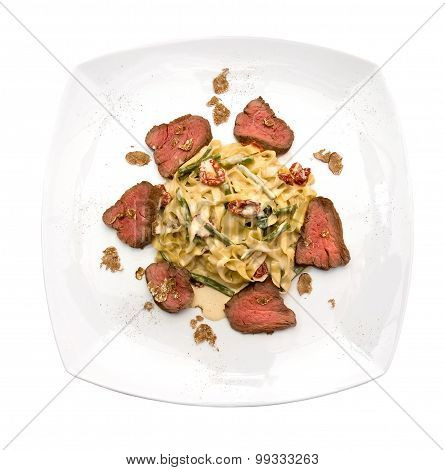 Tagliatelle with veal and white truffle