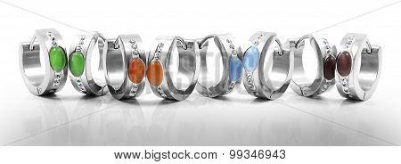 Hoop earrings, surgical stainless steel