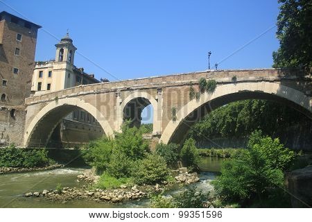 In Rome, the bridge Fabricius on the Tiber