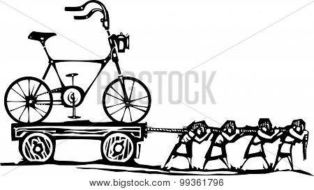 Dragging Bike