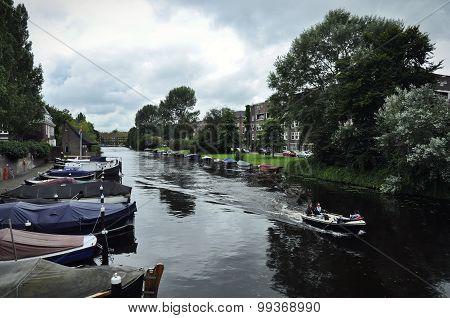 The Noorder Amstelkanaal From The Lyceumbrug.