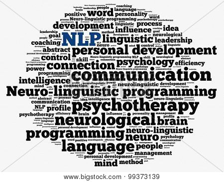 Neuro-linguistic programming in word collage