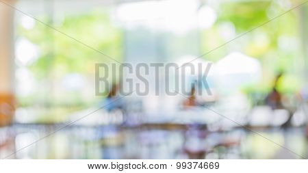 Blur Image Of Food Center With Bokeh
