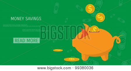 Vector money savings concept