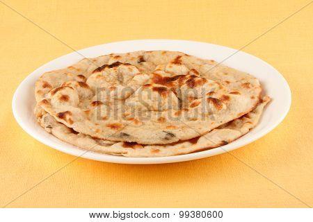 Naan cooked in Tandoori