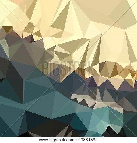 Ecru Brown Blue Abstract Low Polygon Background