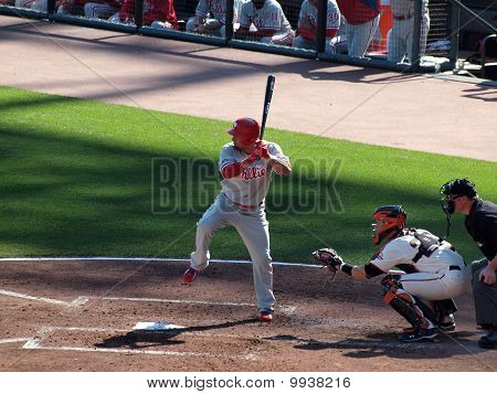 Shane Victorino Lifts Leg To Help Time Incoming Pitch