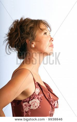 Pretty Young Woman In Profile