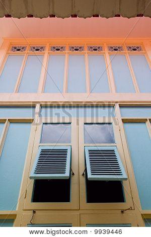 Window At Royal Palace Bangpain Thailand
