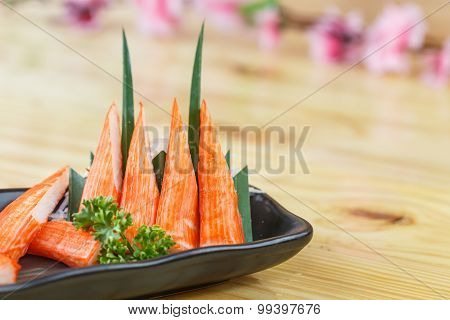 Traditional Japanese Food, Immitation Crab Sticks Or Kani Kamaboko