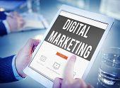 Digital Marketing Commercial Internet Online Concept poster