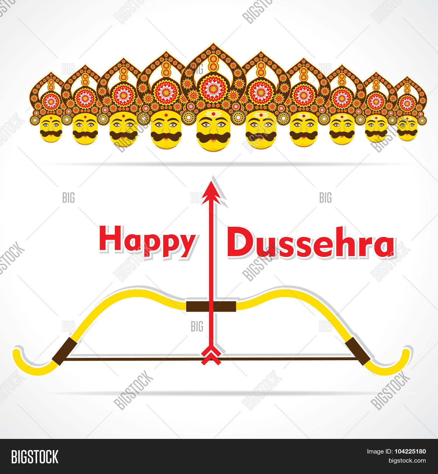 Happy Dussehra Vector Photo Free Trial Bigstock