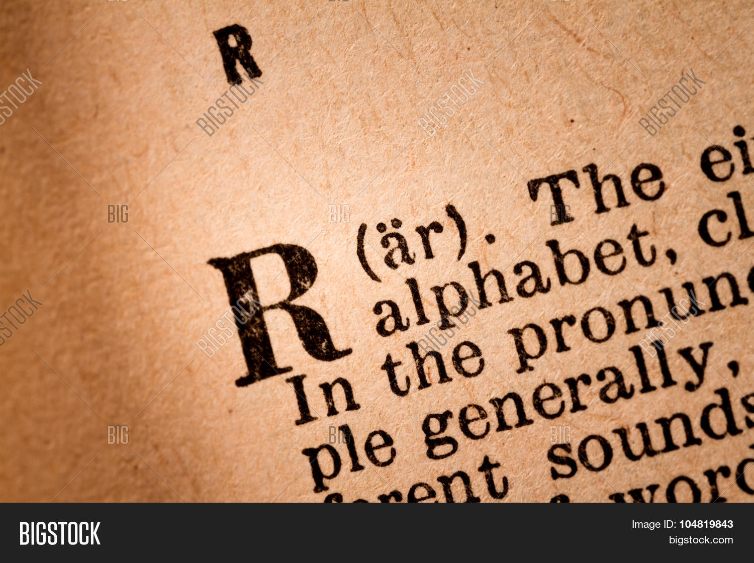 Close  R, 18Th Letter Image & Photo (Free Trial) | Bigstock