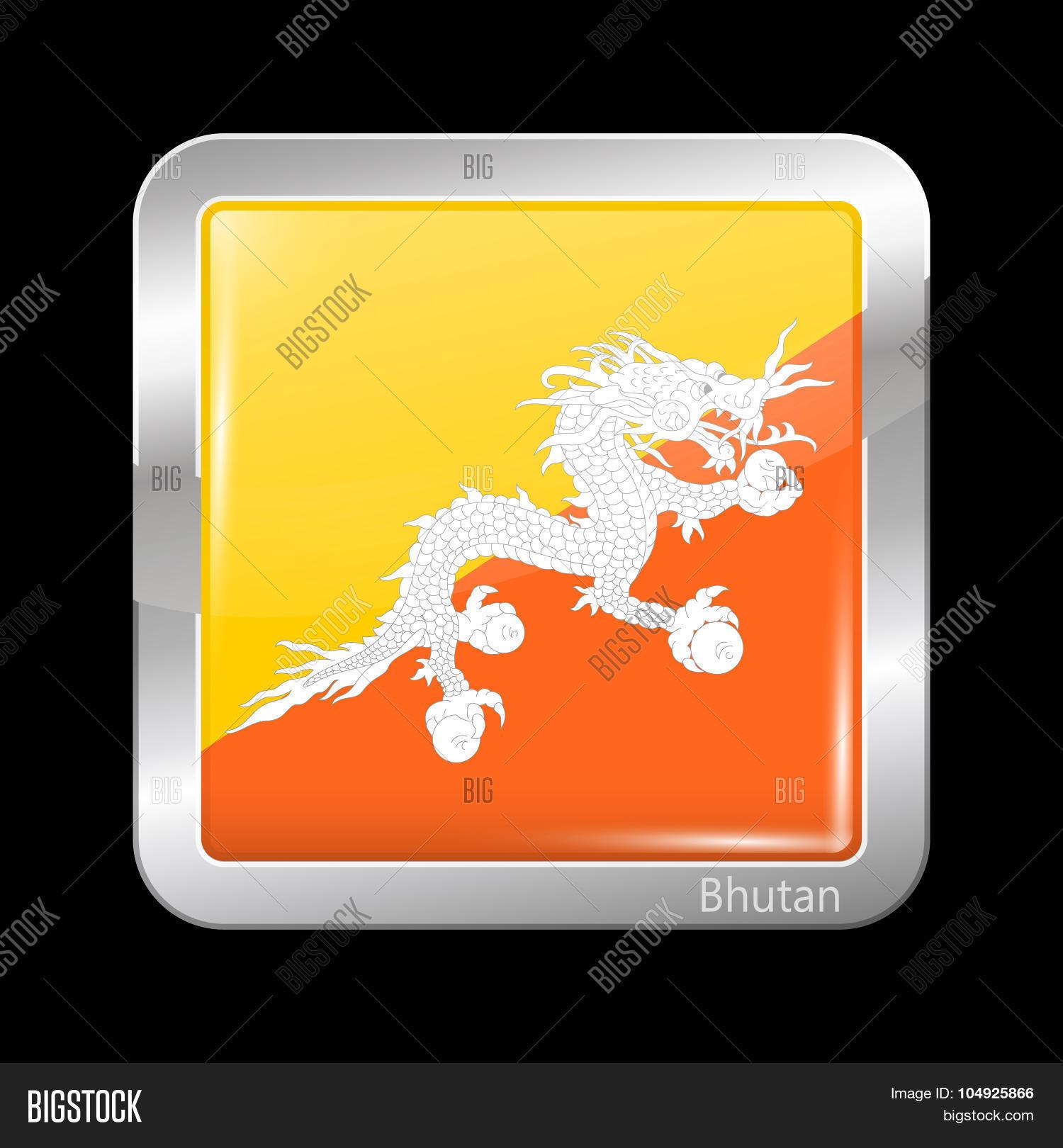 Flag Bhutan  Metalic Vector & Photo (Free Trial)   Bigstock